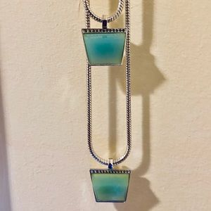 Vince Camuto Blue Steel Silver Necklace